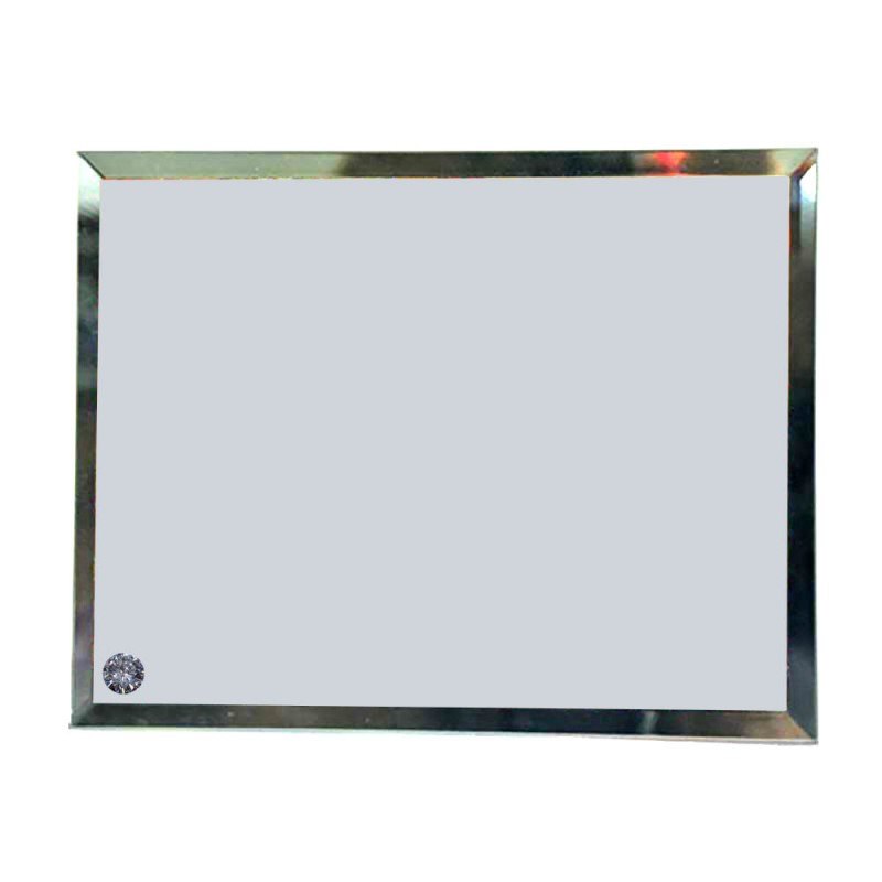 Mirror Edge Glass Rectangle Photo Frame