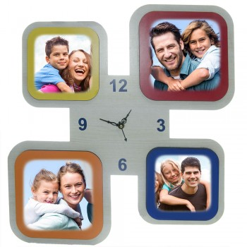 Multi Colour Wall Clock