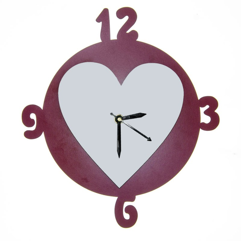 Circle Heart Wall Clock