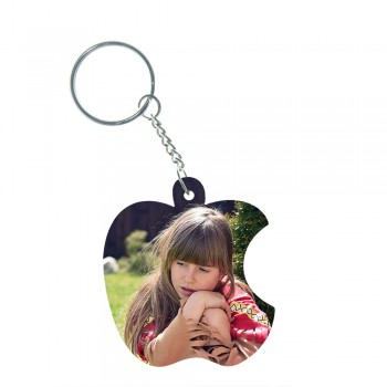 Apple Wooden Keychain